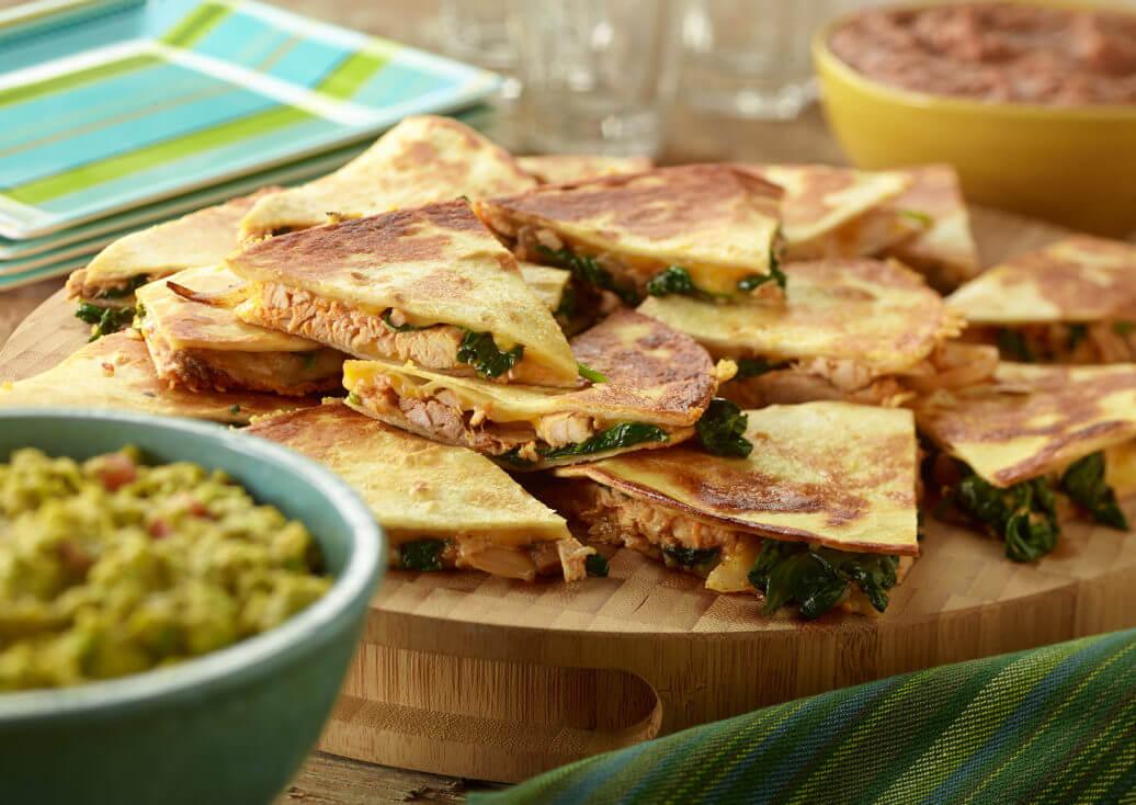 Chicken & Spinach Quesadillas