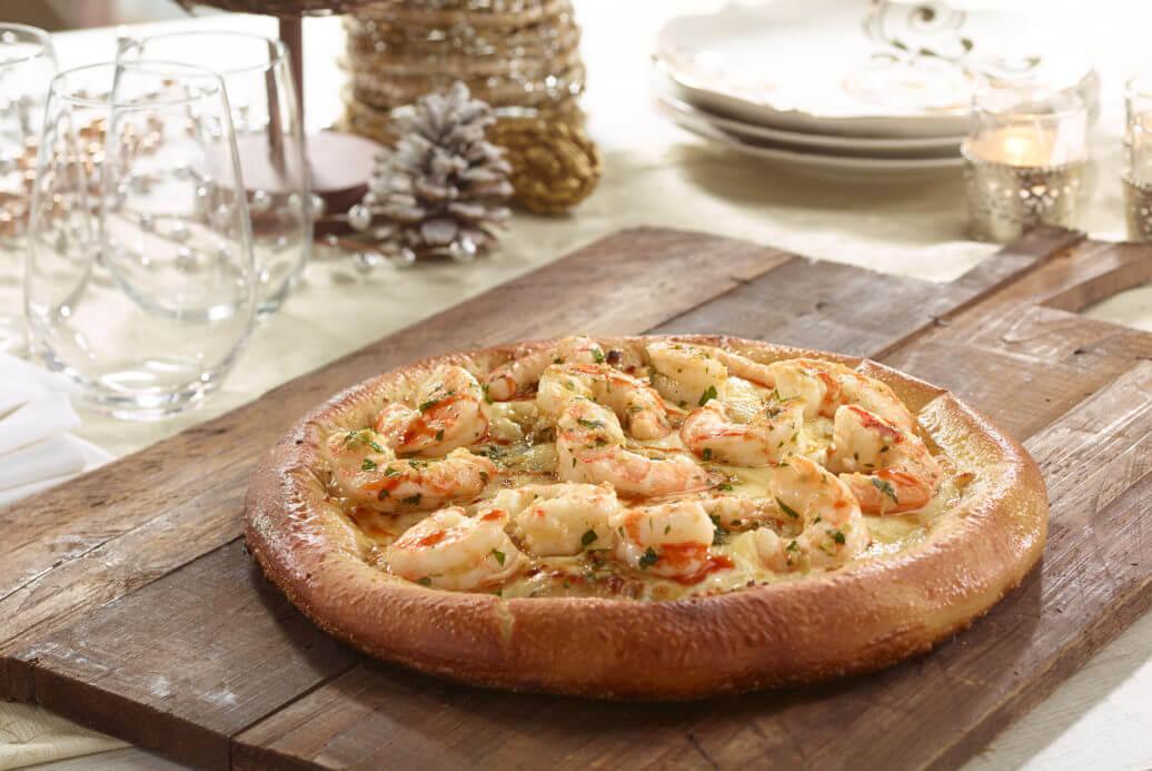 Shrimp Scampi Pizza