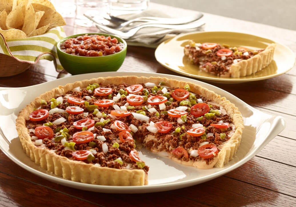 Spicy Queso Sausage Tart