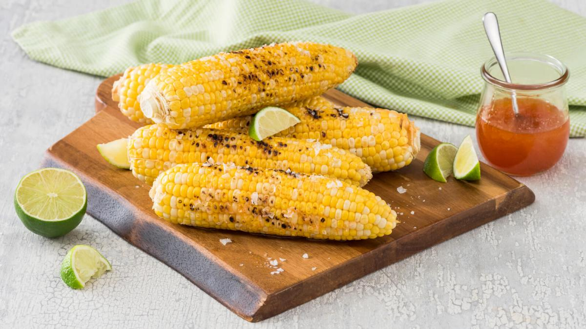Grilled Corn with Hot Honey Butter